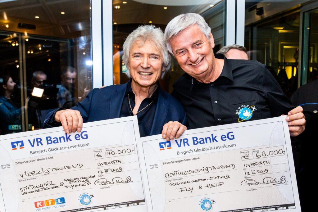 Am 12. März 2019 überreicht Peter Orloff erneut den Scheck über die komplette Summe von € 68.000 an Reiner Meutsch. Und zusätzlich noch den Scheck über € 40.000, den er persönlich von seiner Dschungelgage gespendet hatte